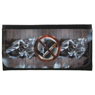 No Smoking Zone Leather Wallets