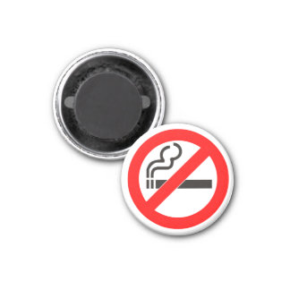 No Smoking Zone Magnet