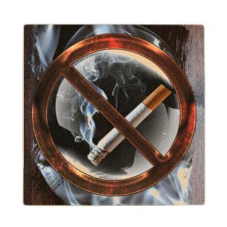 No Smoking Zone Wood Coaster