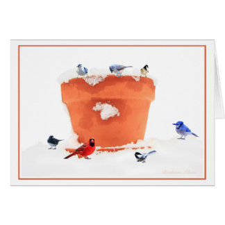 No snowflake ever falls In the wrong place-Birds Card