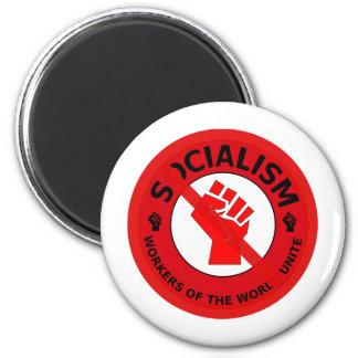 No Socialism! Refrigerator Magnet