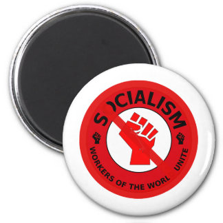 No Socialism Refrigerator Magnet