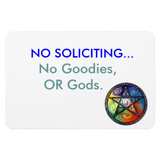 No Soliciting magnet, with Pentacle Magnet