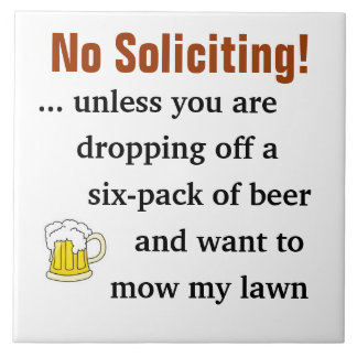 No Soliciting Sign Ceramic Tile