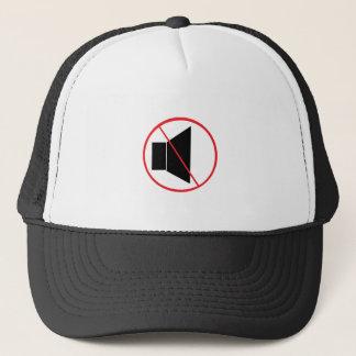 No Sound Symbol Trucker Hat