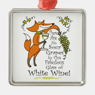 No Sour Grapes in this Fabulous White Wine Metal Ornament