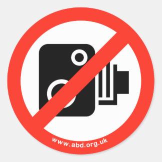 No speed cameras round stickers