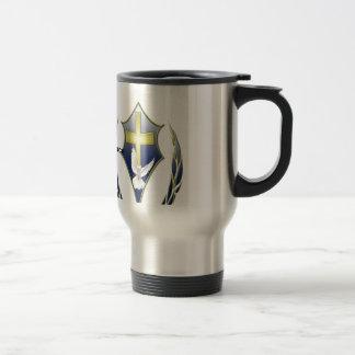 No spill container travel mug