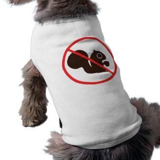 No Squirrels Sleeveless Dog Shirt
