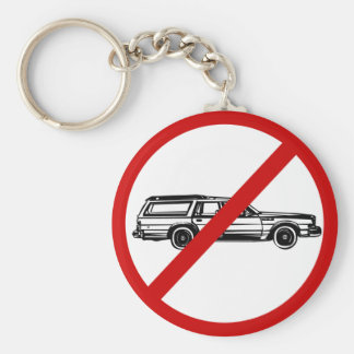 no-station-wagons basic round button key ring