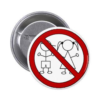No Stick Figure Kids 6 Cm Round Badge