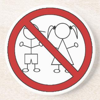 No Stick Figure Kids Drink Coaster