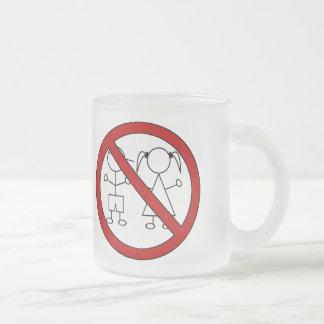 No Stick Figure Kids Frosted Glass Mug