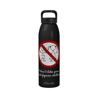 No Stick Figure Kids Drinking Bottles