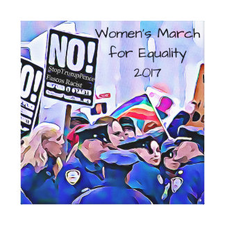 No! Stop Trump & Pence, Women's March for equality Canvas Print