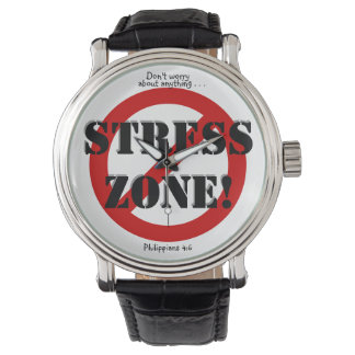 NO STRESS ZONE! WATCH, w/Scripture reference Watch