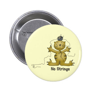 No Strings Cat Button