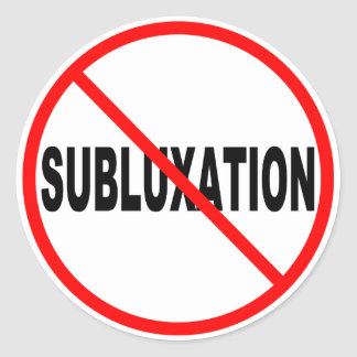 No Subluxation Stickers