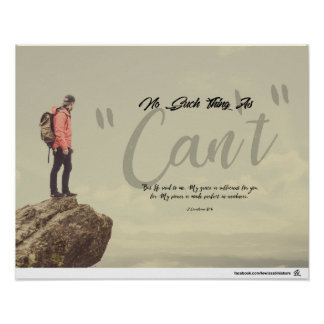 "No Such Thing As ""Can't"" Poster"
