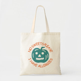 No Sweets Please Halloween Treat Bag