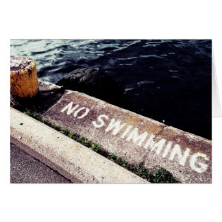 No Swimming Card