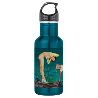 No swimming vintage pinup girl 532 ml water bottle