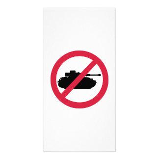 No tank war photo card
