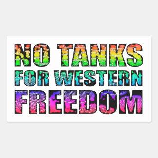 No tanks for western freedom rectangular sticker