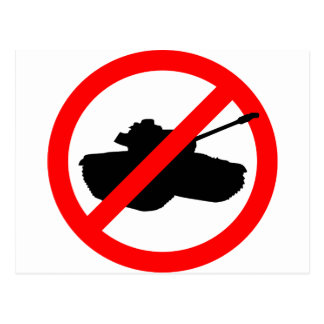 No Tanks, No War Postcard