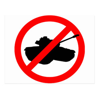 No Tanks! Postcard
