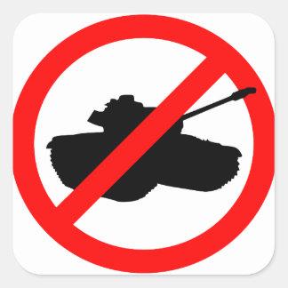 No Tanks! Square Sticker