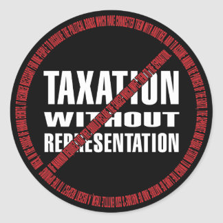No Taxation Declaration Classic Round Sticker