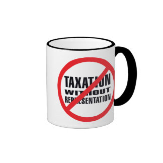 No Taxation without Representation Ringer Coffee Mug