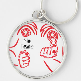 No Tears MMA Silver-Colored Round Key Ring