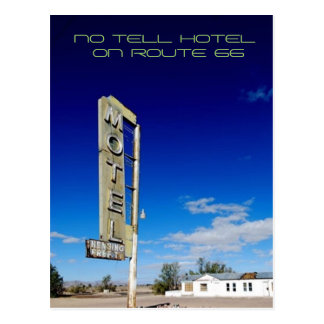 No Tell Hotel Postcard