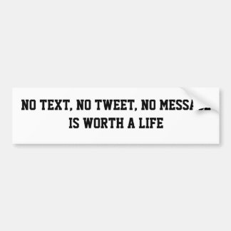No Text Bumper Sticker