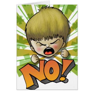 NO! (text editable inside) Card