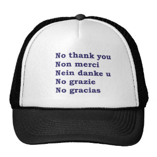 No thanks cap