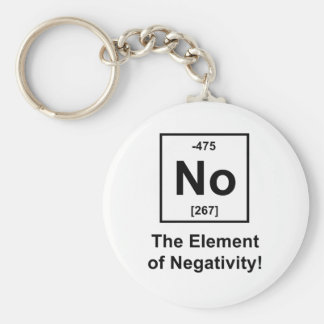 No, The Element of Negativity Basic Round Button Key Ring