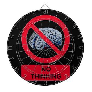 No Thinking Allowed Dartboard