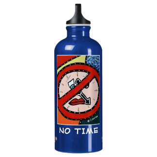 No Time  - Blue  - Time Pieces Water Bottle