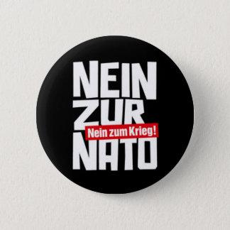no to NATO 6 Cm Round Badge