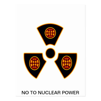 No To Nuclear Post Card