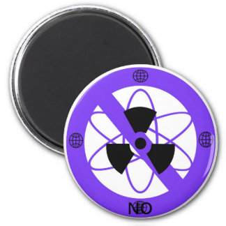 """NO TO NUCLEAR POWER""* 6 CM ROUND MAGNET"