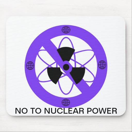 """""""NO TO NUCLEAR POWER""""* MOUSE PADS"""