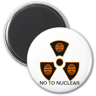 No To Nuclear Refrigerator Magnet