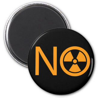 No to Radiation and Nuclear Power 6 Cm Round Magnet