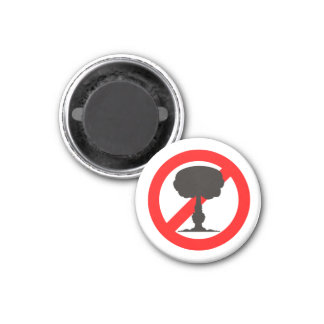 No to the Bomb 3 Cm Round Magnet