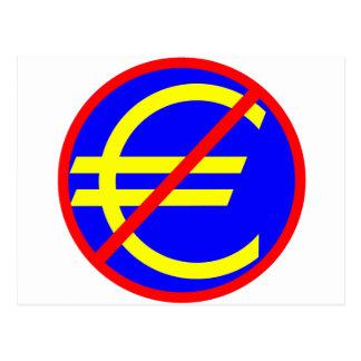 No to the Euro Postcard