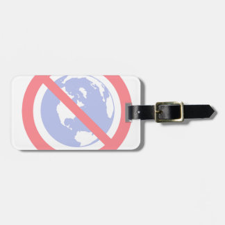 No to the Globe - Flat Earth Luggage Tag